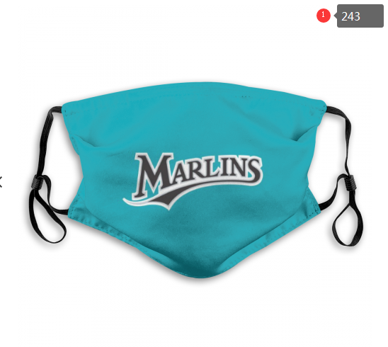 MLB Miami Marlins 2 Dust mask with filter
