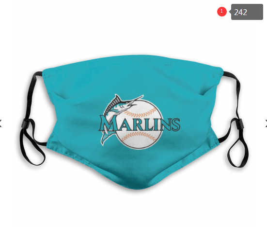 MLB Miami Marlins 3 Dust mask with filter
