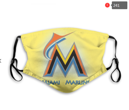 MLB Miami Marlins 4 Dust mask with filter
