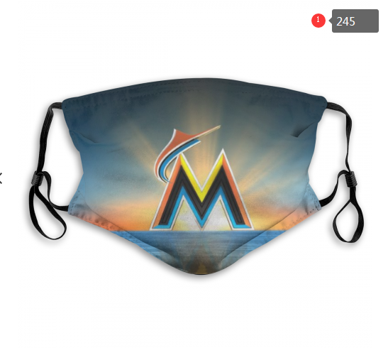 MLB Miami Marlins Dust mask with filter