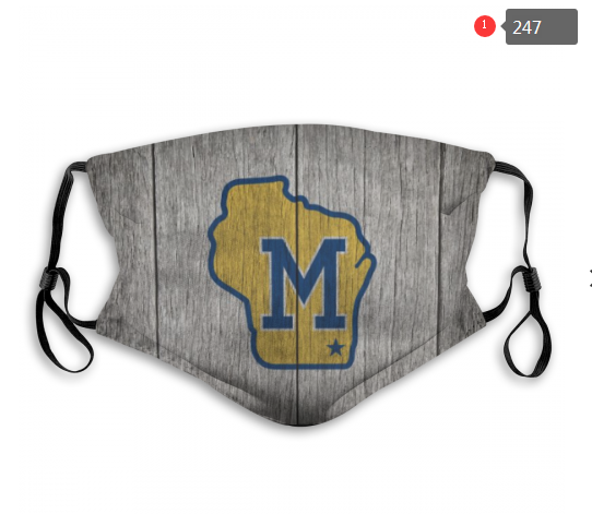 MLB Milwaukee Brewers 3 Dust mask with filter