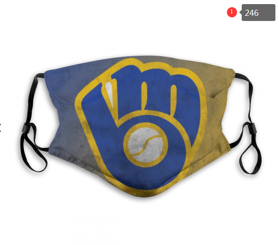 MLB Milwaukee Brewers 4 Dust mask with filter