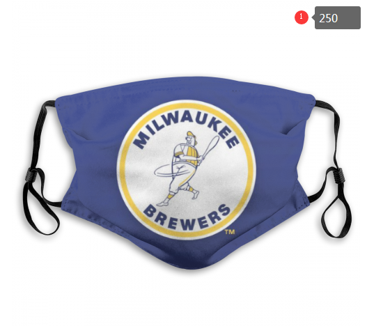 MLB Milwaukee Brewers Dust mask with filter