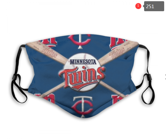 MLB Minnesota Twins 5 Dust mask with filter