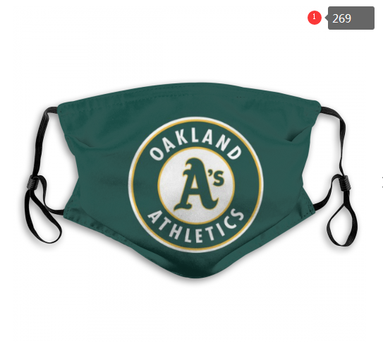 MLB Oakland Athletics 2 Dust mask with filter