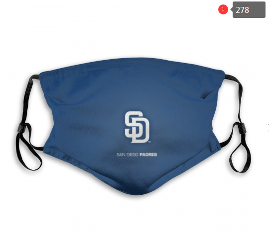 MLB San Diego Padres 1 Dust mask with filter