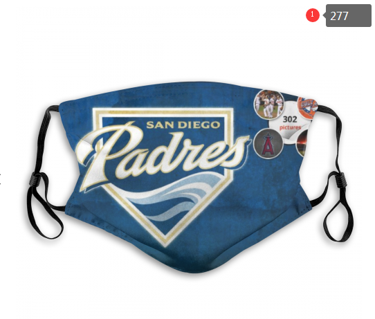 MLB San Diego Padres 2 Dust mask with filter