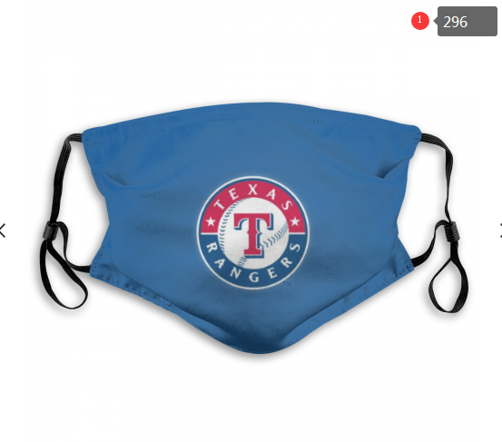 MLB Texas Rangers 3 Dust mask with filter