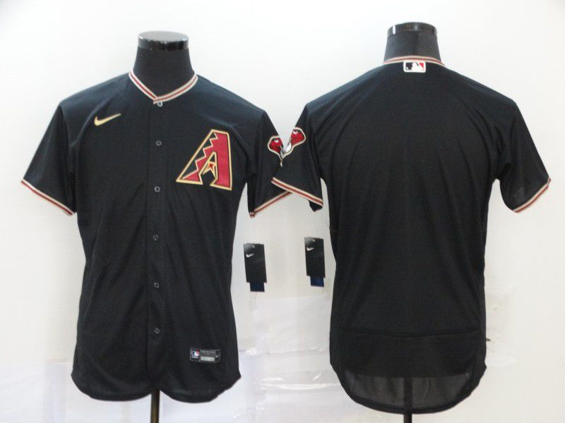 Men Arizona Diamondback Blank Black Nike Elite MLB Jerseys