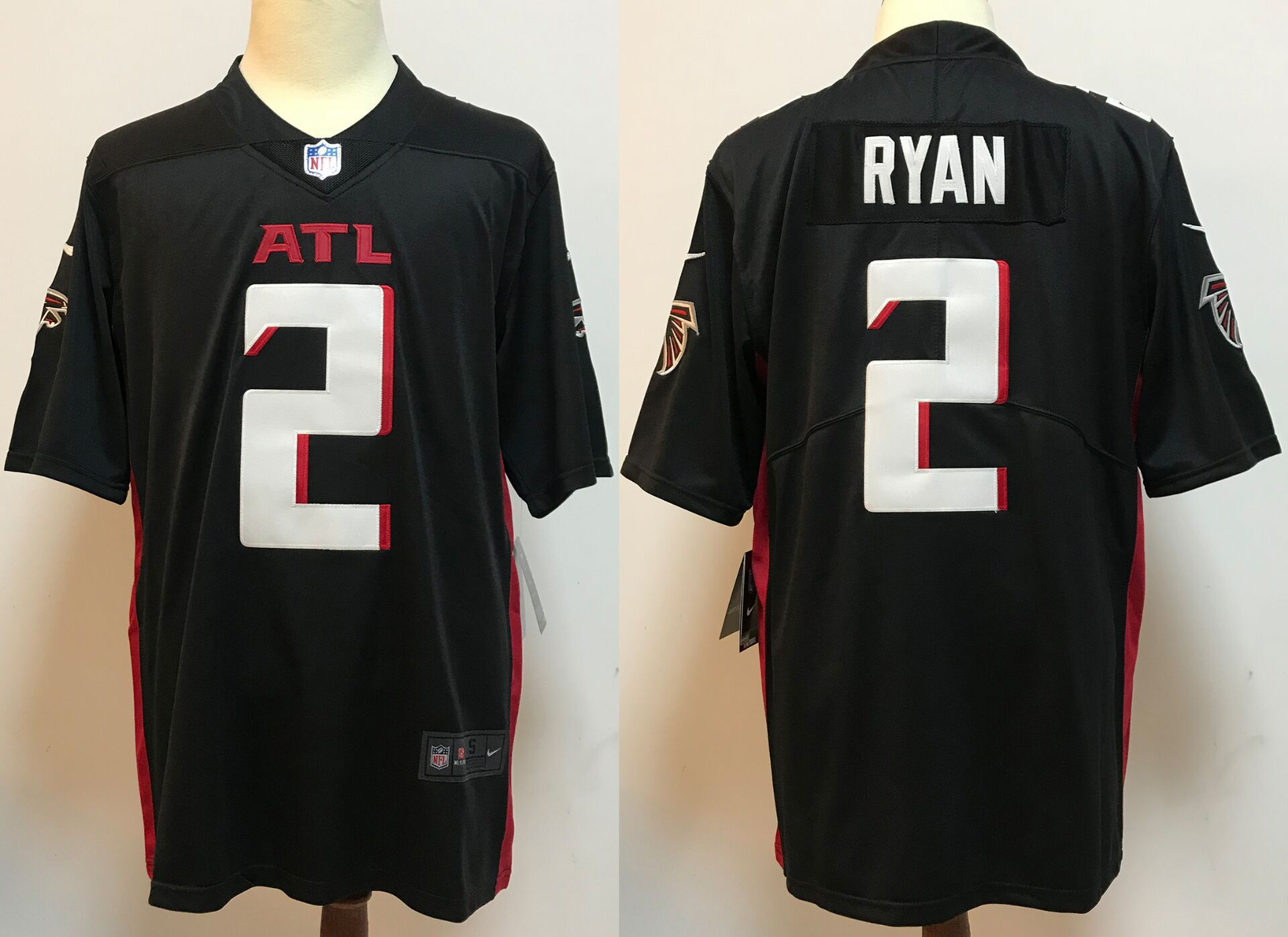 Men Atlanta Falcons 2 Ryan Black New Nike Limited Vapor Untouchable NFL Jerseys