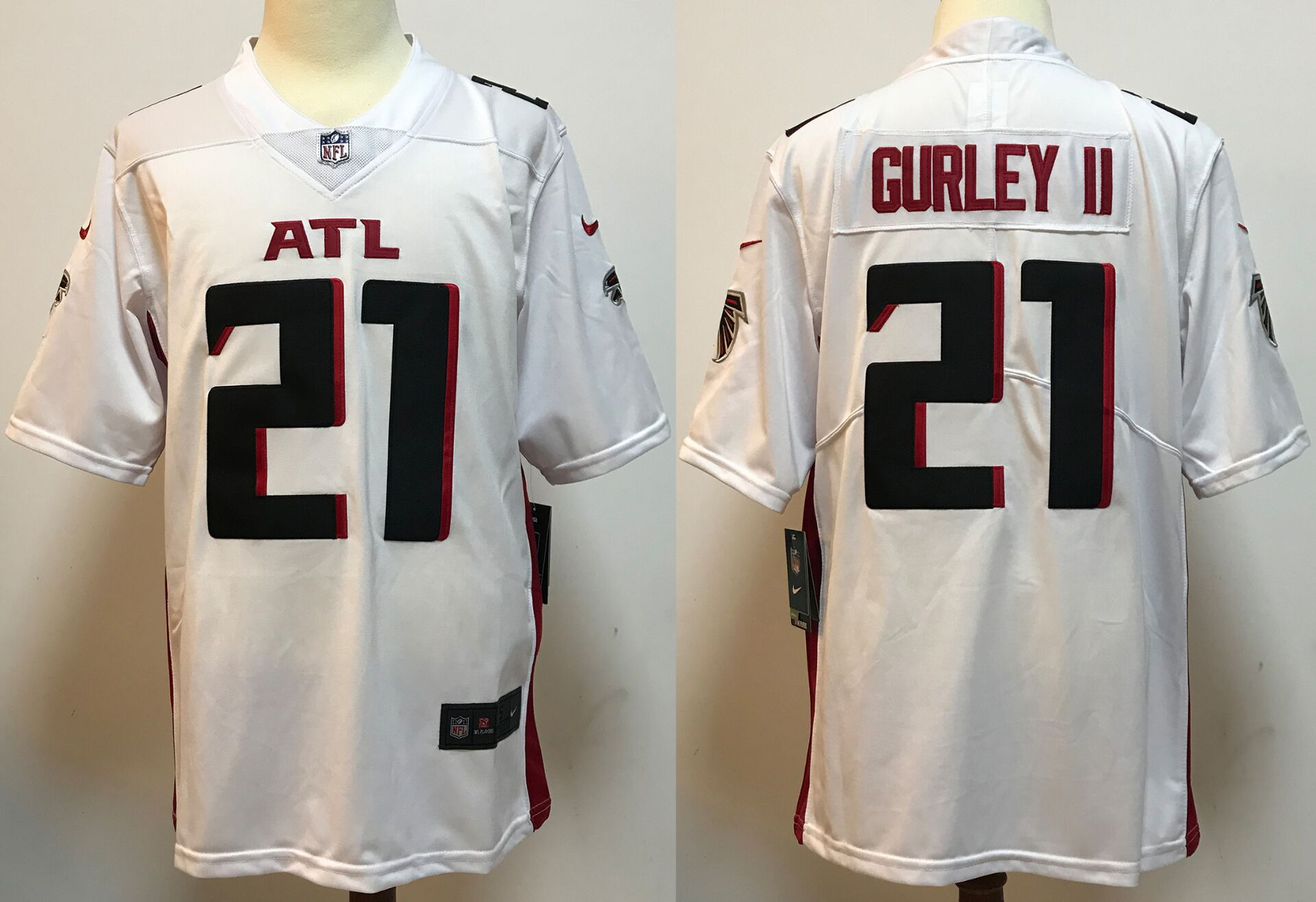 Men Atlanta Falcons 21 Gurley ii White New Nike Limited Vapor Untouchable NFL Jerseys
