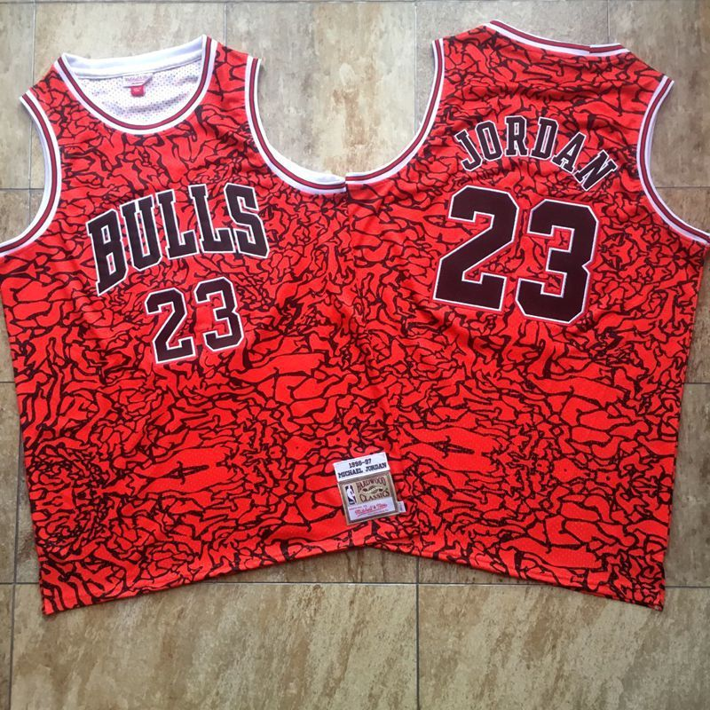Men Chicago Bulls 23 Jordan Red split tight embroider Mitchell&Ness NBA Jerseys
