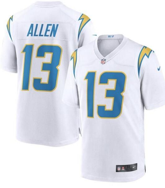 Men Los Angeles Chargers Light blue number NFL Football Keenan Allen White Jersey Limited 13 Road Vapor Untouchable