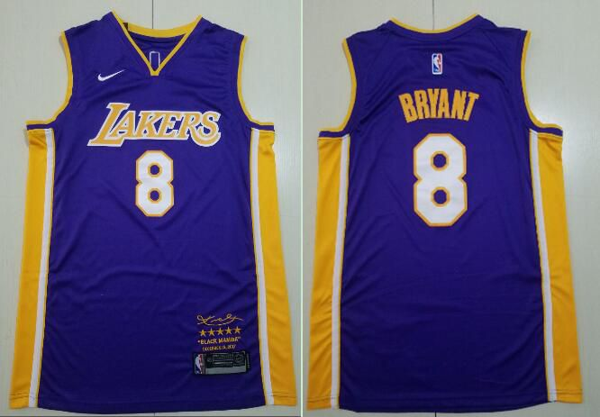 Men Los Angeles Lakers 8 Bryant purple Game Nike NBA Jerseys