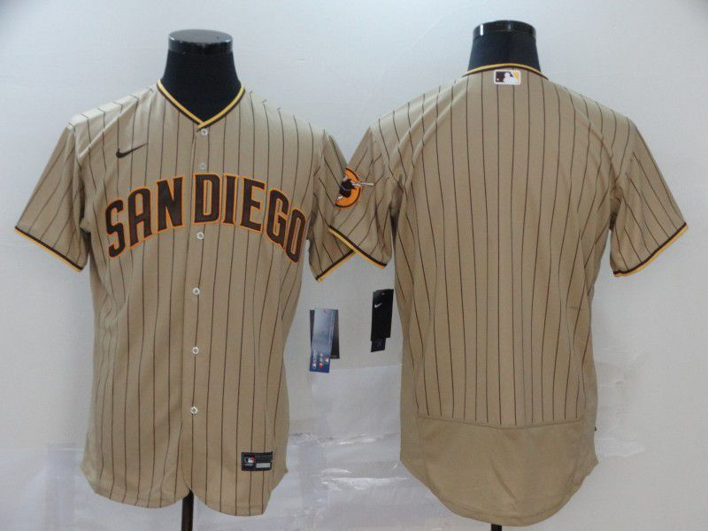 Men San Diego Padres Blank stripes brown Nike Elite MLB Jerseys