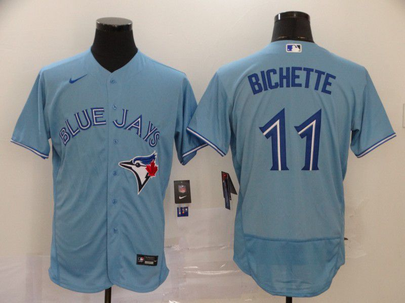 Men Toronto Blue Jays 11 Bichette Light Blue Elite Nike MLB Jerseys