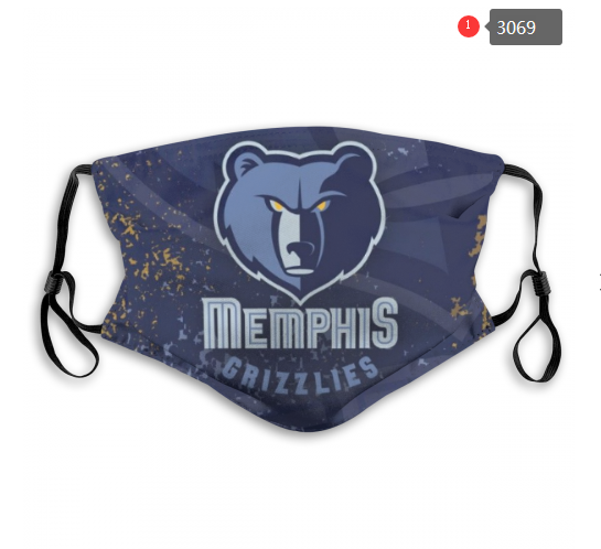 NBA Memphis Grizzlies 2 Dust mask with filter