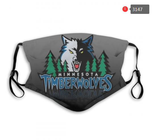 NBA Minnesota Timberwolves 1 Dust mask with filter