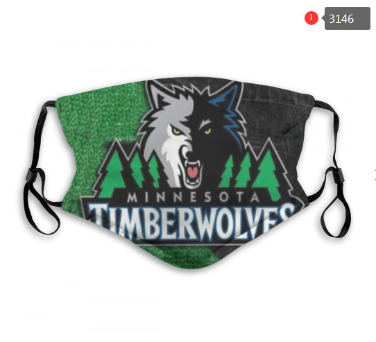 NBA Minnesota Timberwolves 2 Dust mask with filter