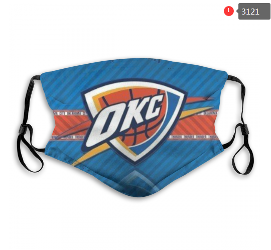 NBA Oklahoma City Thunder 3 Dust mask with filter