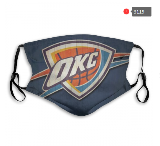 NBA Oklahoma City Thunder 5 Dust mask with filter