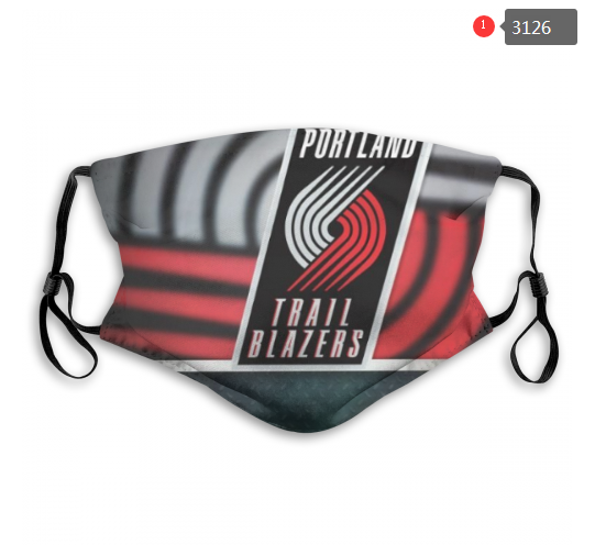 NBA Portland Trail Blazers 2 Dust mask with filter