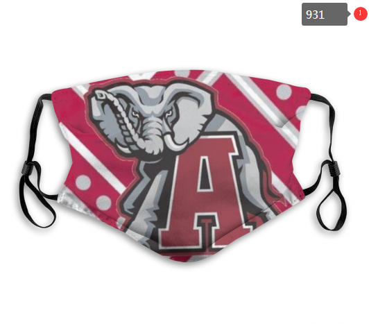 NCAA Alabama Crimson Tide 7 Dust mask with filter