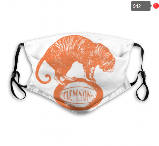 NCAA Clemson Tigers 11 Dust mask with filter