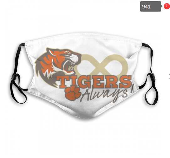 NCAA Clemson Tigers 12 Dust mask with filter