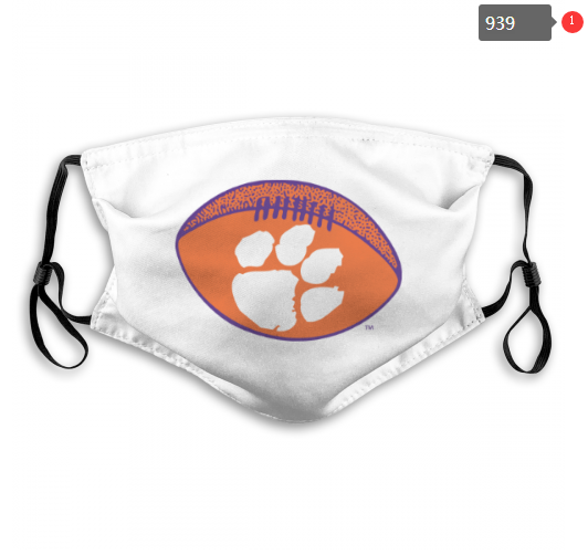 NCAA Clemson Tigers 14 Dust mask with filter