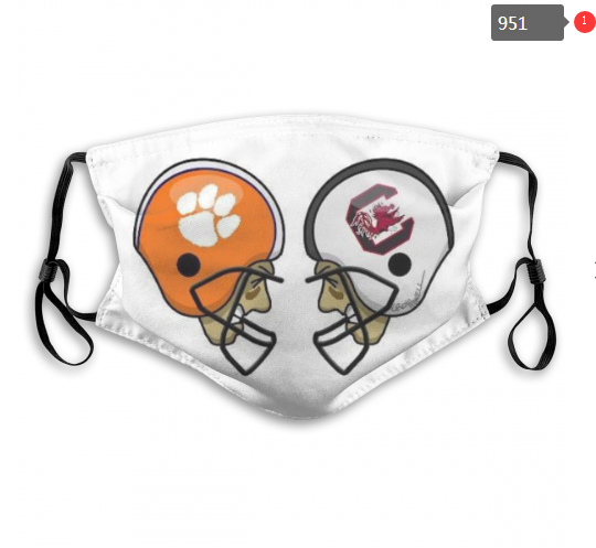 NCAA Clemson Tigers 2 Dust mask with filter