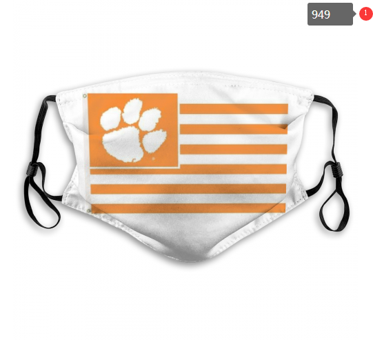 NCAA Clemson Tigers 4 Dust mask with filter