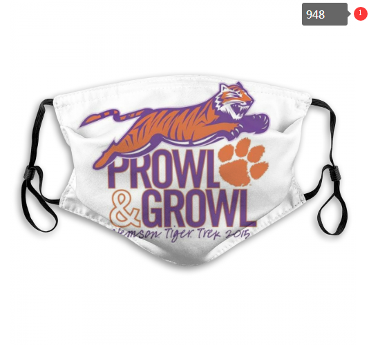 NCAA Clemson Tigers 5 Dust mask with filter