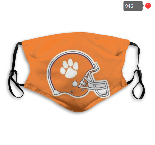 NCAA Clemson Tigers 7 Dust mask with filter