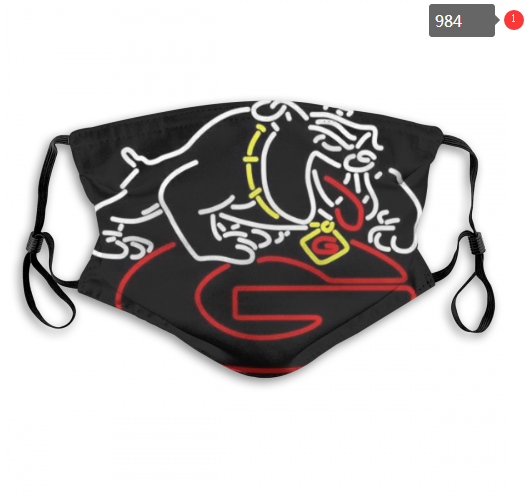 NCAA Georgia Bulldogs 2 Dust mask with filter