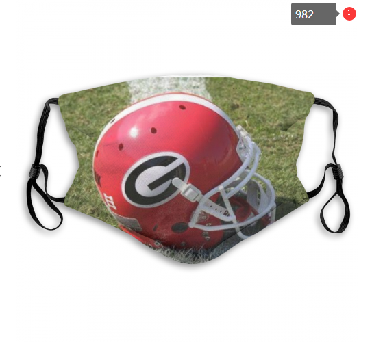 NCAA Georgia Bulldogs 4 Dust mask with filter