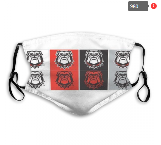 NCAA Georgia Bulldogs 6 Dust mask with filter