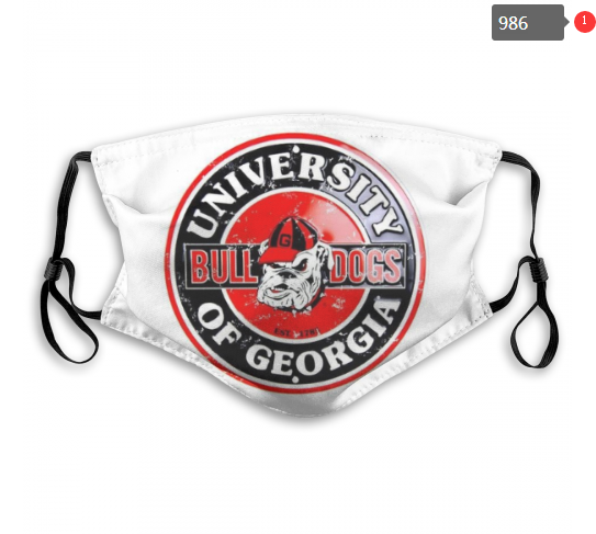 NCAA Georgia Bulldogs Dust mask with filter