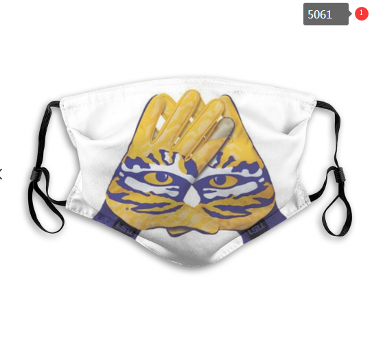 NCAA LSU Tigers 9 Dust mask with filter