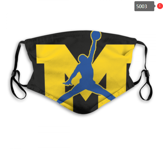 NCAA Michigan Wolverines 12 Dust mask with filter