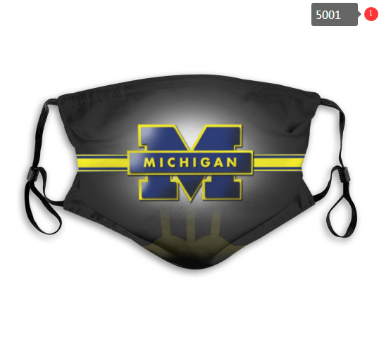 NCAA Michigan Wolverines 14 Dust mask with filter