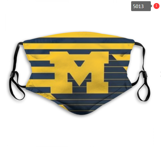 NCAA Michigan Wolverines 2 Dust mask with filter