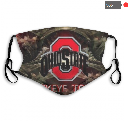 NCAA Ohio State Buckeyes 3 Dust mask with filter