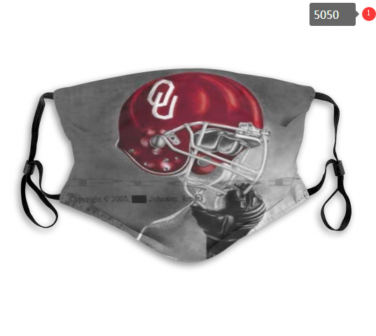 NCAA Oklahoma Sooners 5 Dust mask with filter