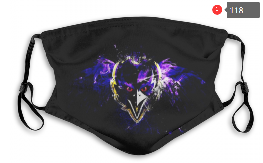 NFL Baltimore Ravens 4 Dust mask with filter