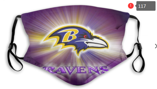 NFL Baltimore Ravens 5 Dust mask with filter