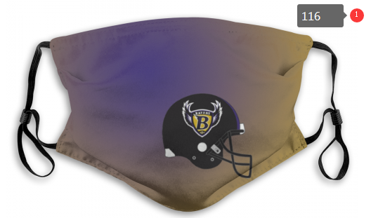 NFL Baltimore Ravens 6 Dust mask with filter