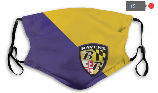 NFL Baltimore Ravens 7 Dust mask with filter