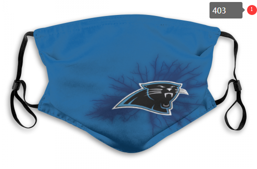 NFL Carolina Panthers 9 Dust mask with filter