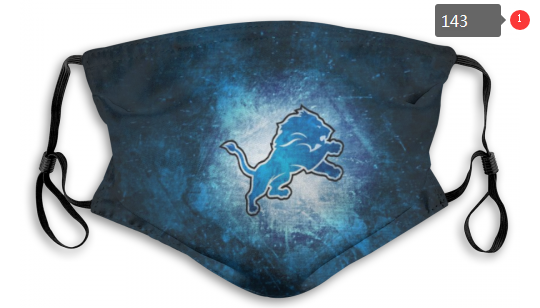 NFL Detroit Lions 2 Dust mask with filter